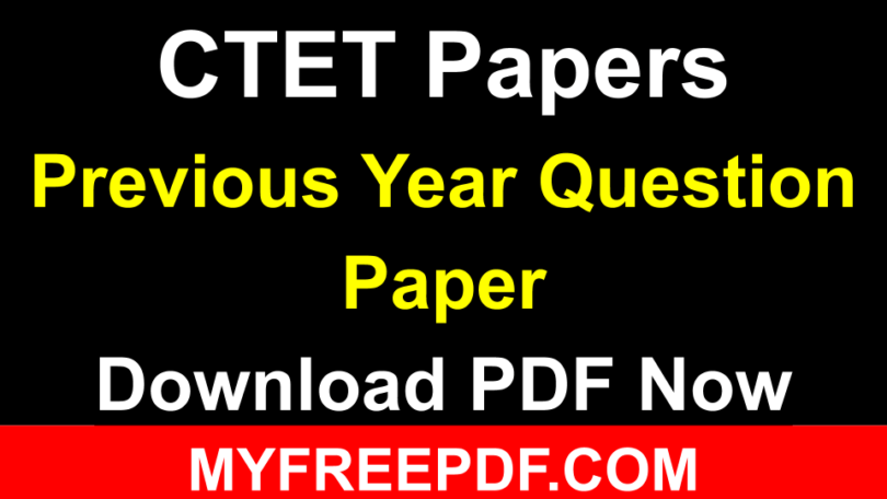 [ Download ] CTET Question Paper In Hindi PDF
