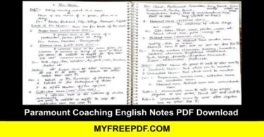 Paramount Coaching English Notes PDF